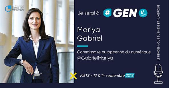 En ce 8 mars 2018, Grand Est Numérique met les femmes à l'honneur. Mariya Gabriel interviendra à #GEN2018 !