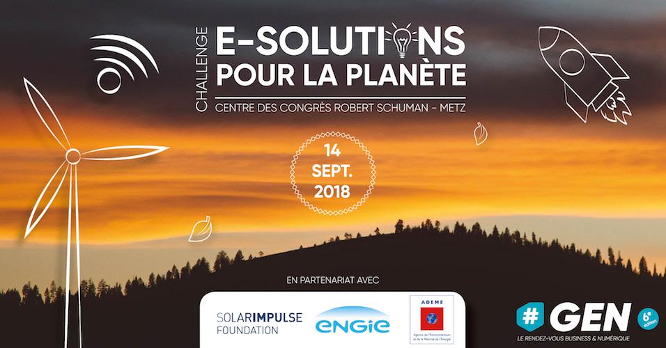 Participez au «Challenge e-solutions pour la planète» à #GEN 2018 !