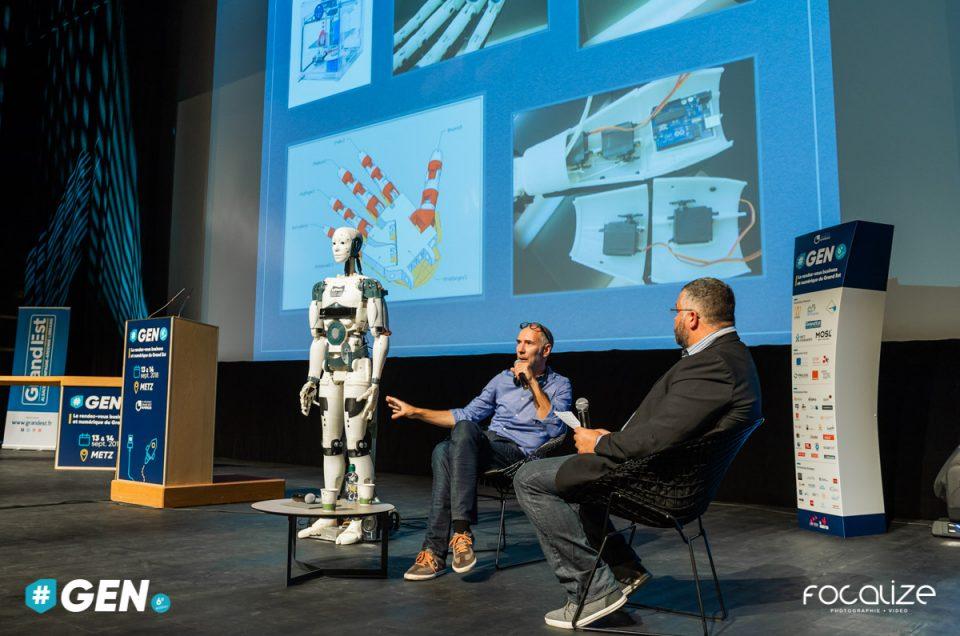 Robot Open Source imprimé en 3D : une création et démonstration signée Gaël Langevin