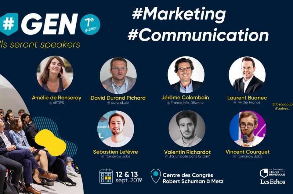 Marketing & Communication, découvrez les conférences & ateliers sur #GEN2019.