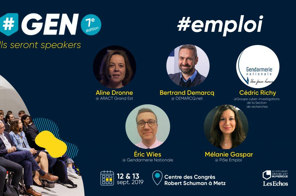 L'emploi se transforme, découvrez comment @ #GEN2019.