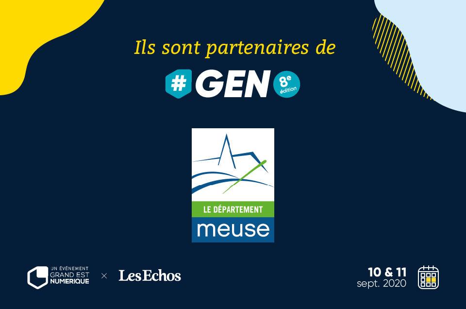 Conseil Départemental de la Meuse, partenaire de #GEN