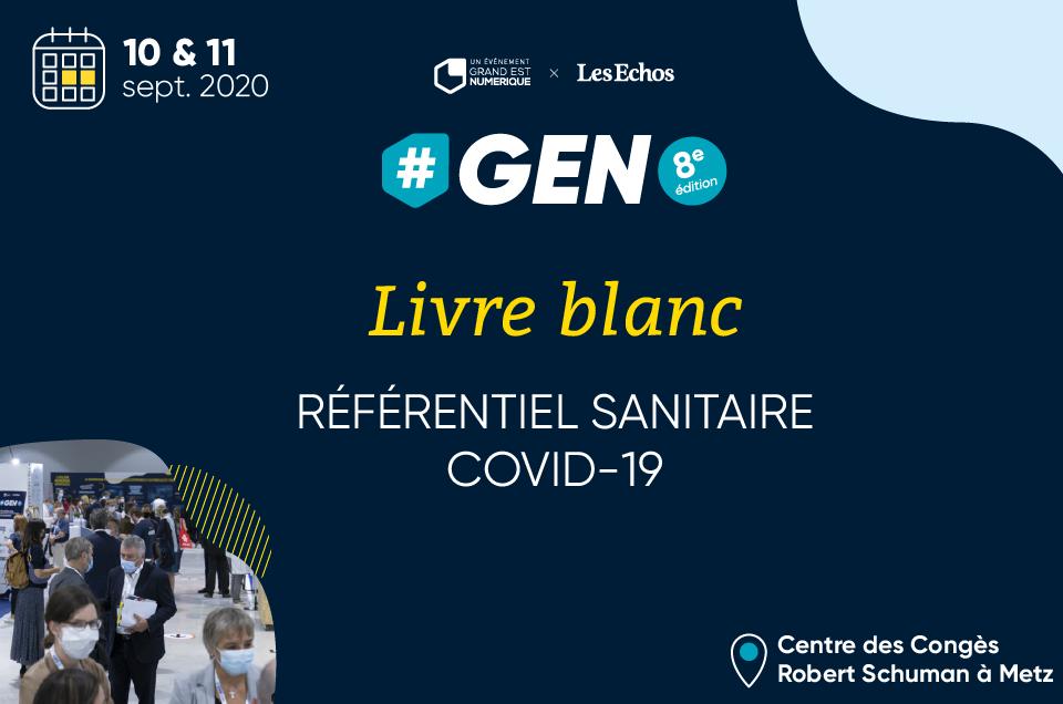 """Livre blanc """"Référentiel Sanitaire COVID-19"""" – #GEN2020"""