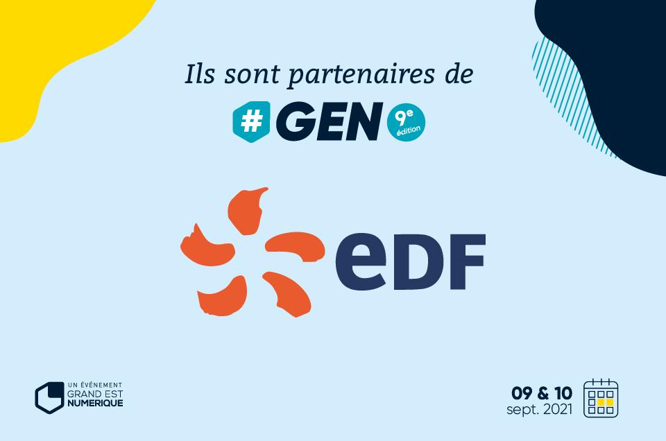 EDF, partenaire de #GEN2021