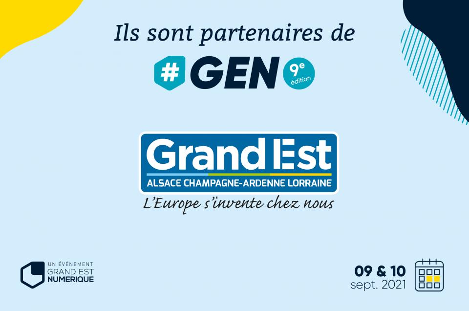 Région Grand Est, partenaire Premium de #GEN2021