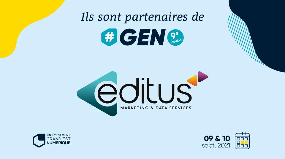 Editus, partenaire Silver de #GEN2021